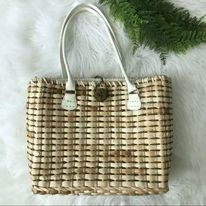 [Vincelli] Wicker Straw Large Tote Bag